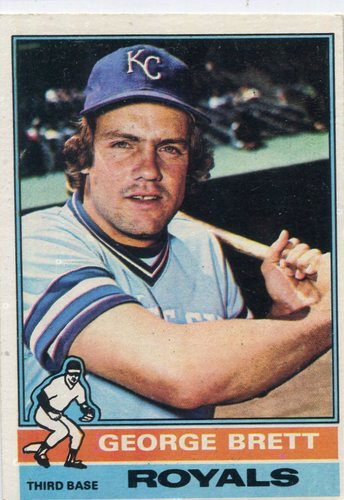 Photo of 1976 Topps #19 George Brett -- Hall of Famer