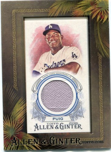 Photo of 2016 Topps Allen and Ginter Framed Mini Relics  Yasiel Puig