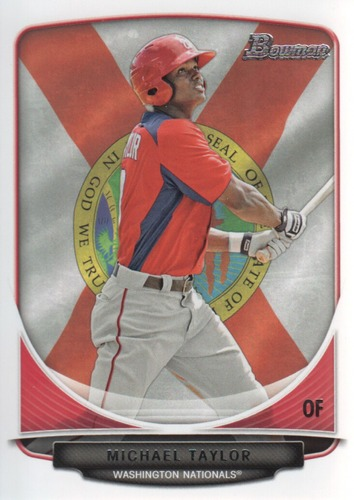 Photo of 2013 Bowman Prospects Hometown #BP47 Michael Taylor