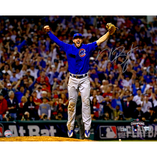 "Photo of Kris Bryant Chicago Cubs 2016 MLB World Series Champions Autographed 16"" x 20"" Last Out Photograph"