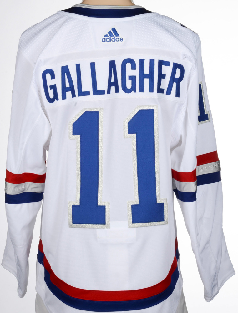 best service 0e8ce a10e9 Brendan Gallagher Montreal Canadiens Game-Worn 2017 NHL100 ...