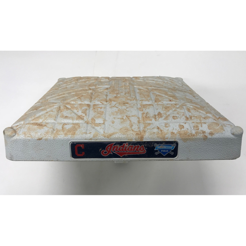 Photo of Game-Used Base (2nd) - Bradley Zimmer's 1st MLB Career Hit (Double) 5/17/17