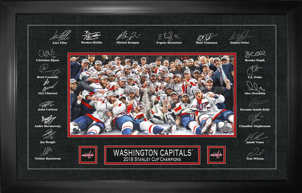Washington Capitals Framed Replica Signatures 2018 Stanley Cup