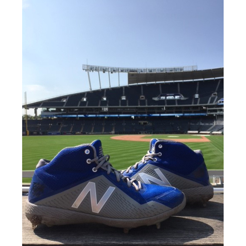 Photo of Game-Used Danny Duffy Cleats - 7/14/18
