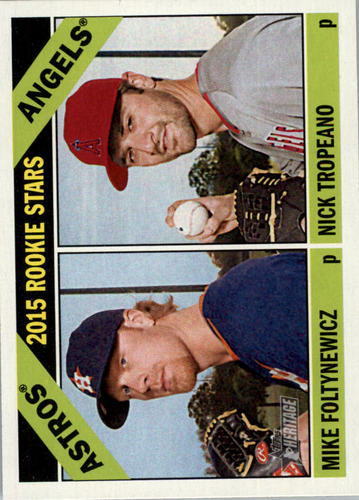 Photo of 2015 Topps Heritage #244 Nick Tropeano RC/Mike Foltynewicz RC