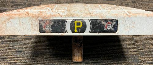 Photo of Game-Used 1st Base from Pirates vs. Cardinals on 8/4/18 - Francisco Cervelli Starts at 1B