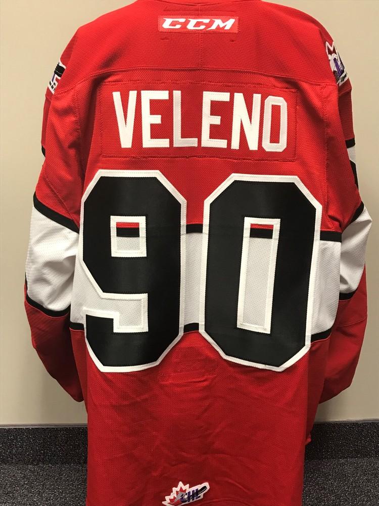 JOE VELENO 2018 CANADA RUSSIA SERIES GAME WORN JERSEY fe6a84df2