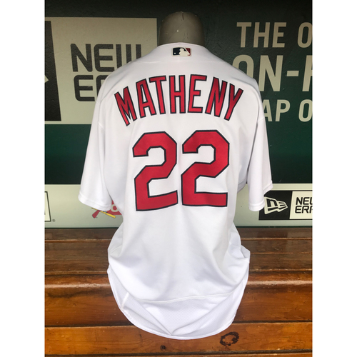 Photo of Cardinals Authentics: Game Worn Mike Matheny Home White Jersey
