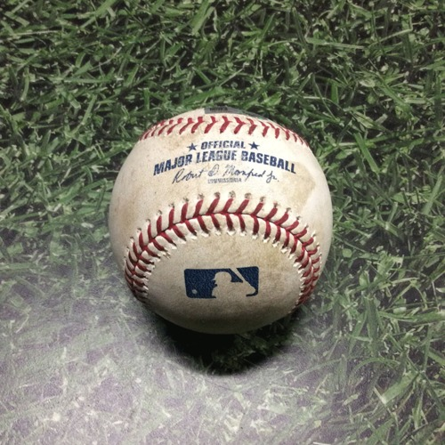 Photo of Game-Used Baseball LAD@MIL 04/20/19 - Matt Albers - Cody Bellinger: Foul
