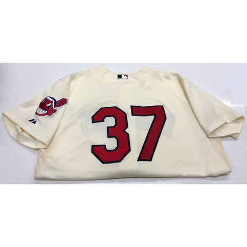 Cody Allen Team Issued Alternate Home Creme Jersey