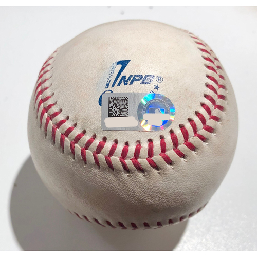 Photo of 2019 Japan Opening Day Series - Exhibition Game - Game Used Baseball - Batter: Alex Guerrero Pitcher : Nick Rumbelow - Single