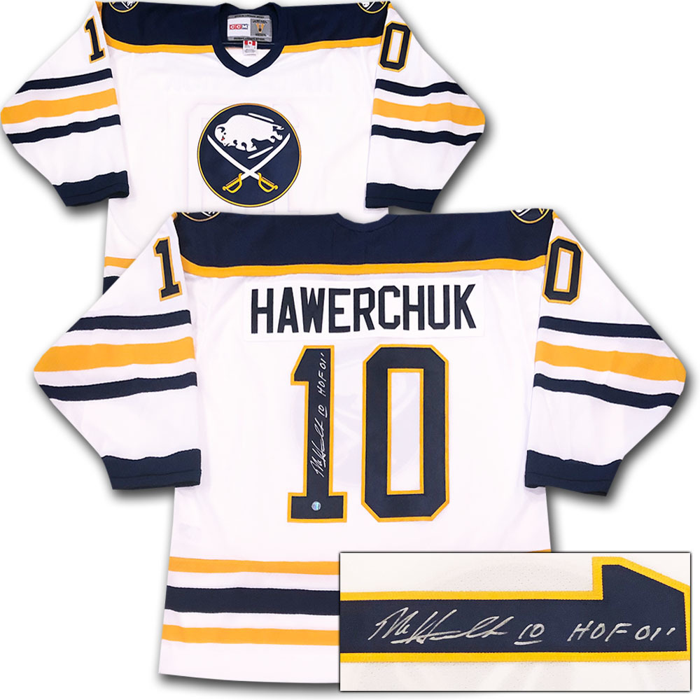 Dale Hawerchuk Autographed Buffalo Sabres Jersey w/HOF 01 Inscription