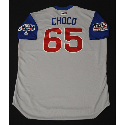 """Photo of 2019 Little League Classic - Game Used Jersey - Wilmer """"Choco"""" Font,  Chicago Cubs at Pittsburgh Pirates - 8/18/2019 (Size - 48)"""