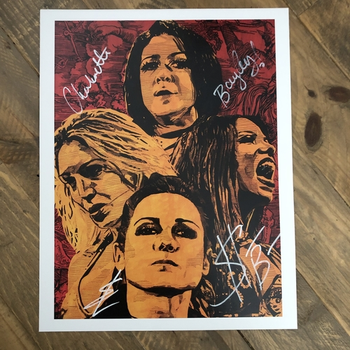 Photo of Four Horsewomen  SIGNED 11 x 14 Rob Schamberger Print