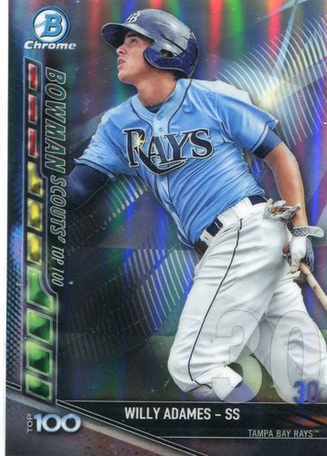 Photo of 2017 Bowman Chrome Scouts Top 100 Refractors #BTP30 Willy Adames