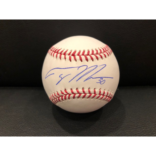 Photo of Reds Authentics: Tyler Mahle -- Autographed Baseball