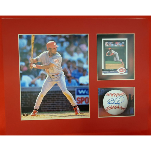Photo of Matted Barry Larkin Batting - 11x14