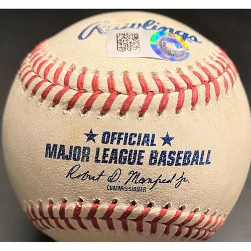 Photo of Game-Used Baseball: Shane Bieber Cleveland Indians Strikeout (MLB AUTHENTICATED)