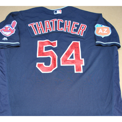 Photo of Game-Used 2016 Spring Training Jersey - Joe Thatcher - Size 52 - Cleveland Indians