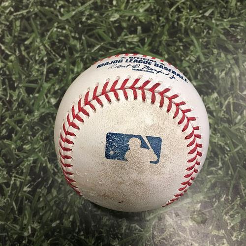 Photo of Game-Used Baseball STL@MIL 05/12/21 - Ryan Helsley - Daniel Vogelbach: Strikeout (101.3 MPH Four-Seam Fastball)