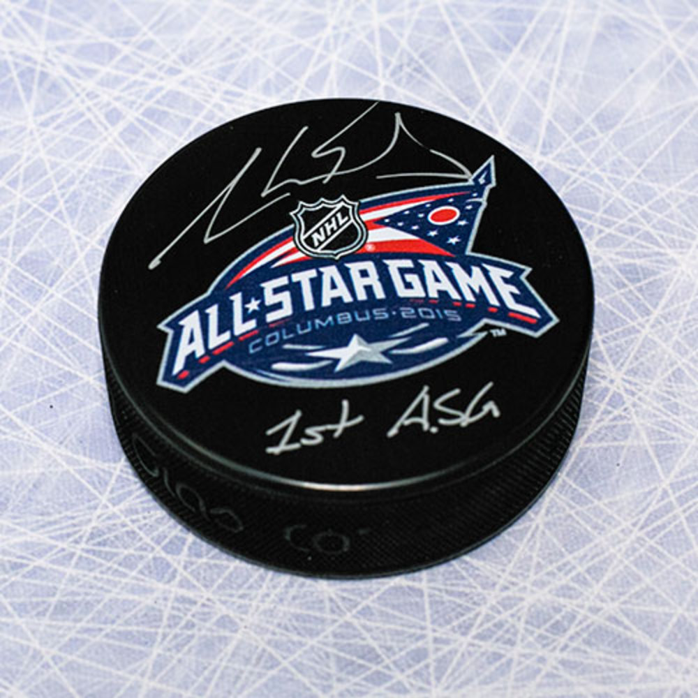 Aaron Ekblad Autographed 2015 All-Star Game Hockey Puck w/ 1st ASG Note *Florida Panthers*