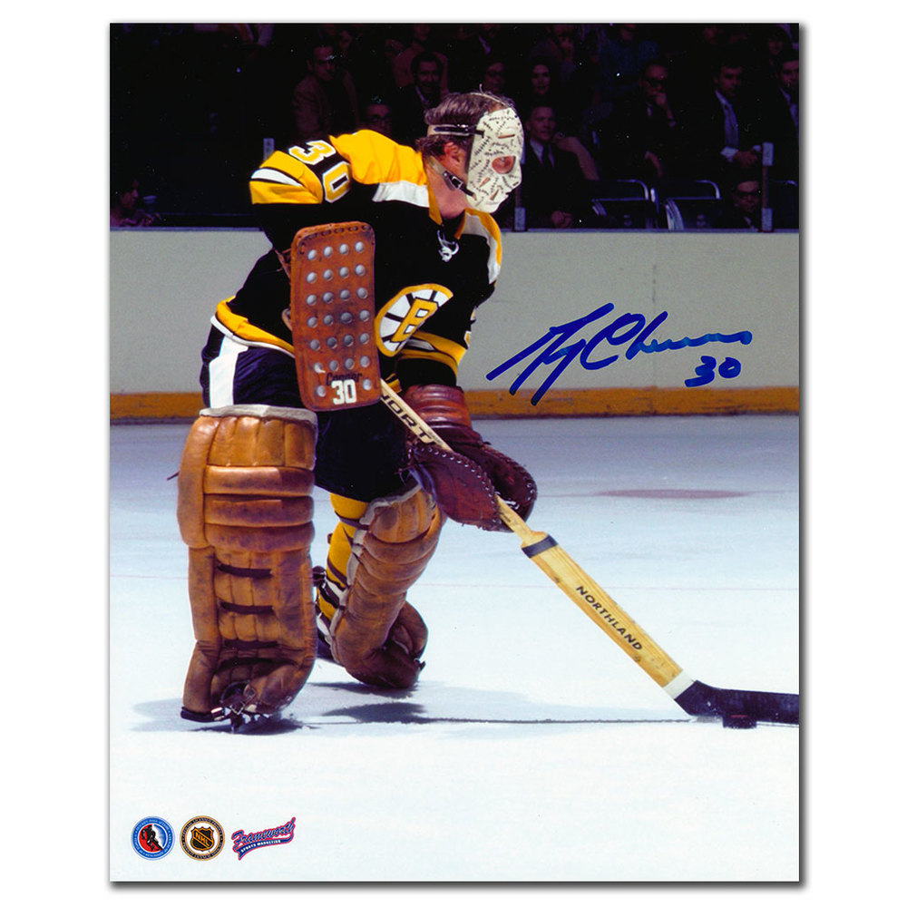 Bep Guidolin Boston Bruins YOUNGEST PLAYER TO PLAY IN NHL Autographed 8x10