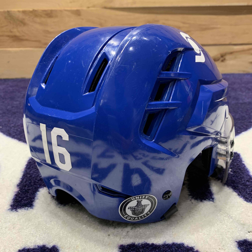 #16 Mitch Marner 2020-21 Game Worn Helmet (Blue Warrior Size Medium w/ Oakley Visor)