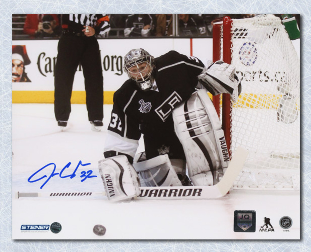 Jonathan Quick Los Angeles Kings Autographed Cup Finals Action 8x10 Photo