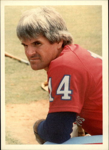 Photo of 1985 Topps Rose #29 Pete Rose/Concentrating on Left