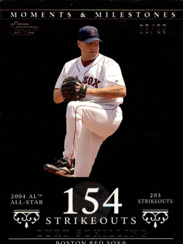 Photo of 2007 Topps Moments and Milestones Black #92-154 Curt Schilling/SO 154