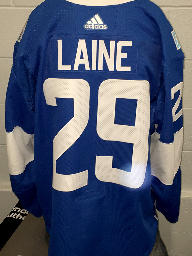 big sale 545c0 80e63 Patrik Laine Winnipeg Jets Game-Worn Home 2016 World Cup Of ...