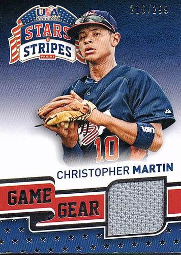 Photo of 2015 USA Baseball Stars and Stripes Game Gear Materials #22 Christopher Martin/299