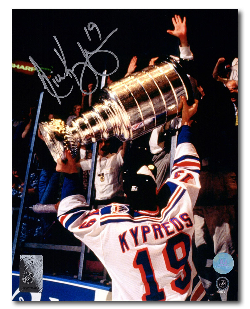 Nick Kypreos New York Rangers Autographed 1994 Stanley Cup 8x10 Photo