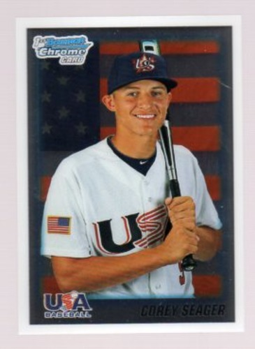 Photo of 2010 Bowman Chrome Draft Prospects #BDPP108 Corey Seager Pre-Rookie Card
