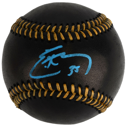 Photo of Eric Hosmer Kansas City Royals 2015 MLB World Series Champions Autographed Black Leather Baseball