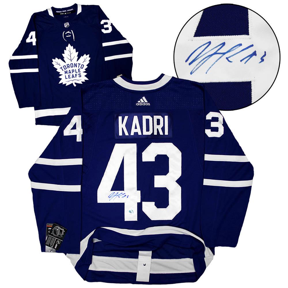 Nazem Kadri Toronto Maple Leafs Autographed Adidas Authentic Hockey Jersey