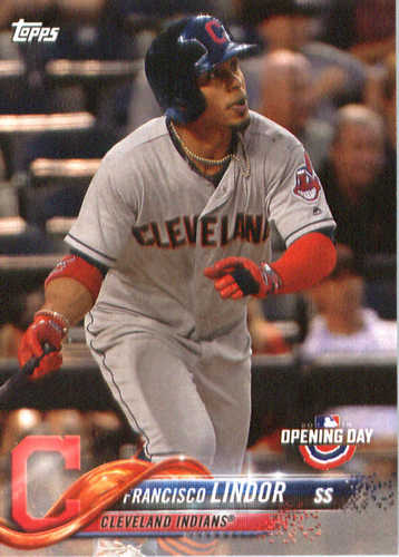 Photo of 2018 Topps Opening Day #39 Francisco Lindor