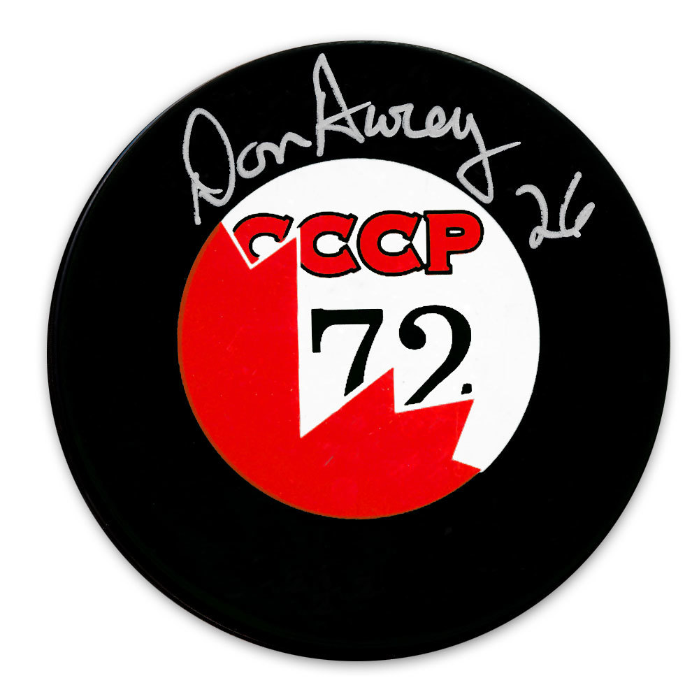 Don Awrey Team Canada 1972 Summit Series Autographed Puck