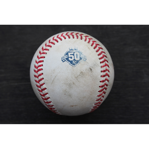 Photo of Game-Used Baseball: Gary Sanchez 42nd Career Double and 163rd Career RBI (NYY @ KC - 5/19/18)