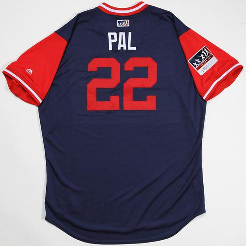"""Photo of Kaleb """"Pal"""" Cowart Los Angeles Angels Game-Used 2018 Players' Weekend Jersey"""