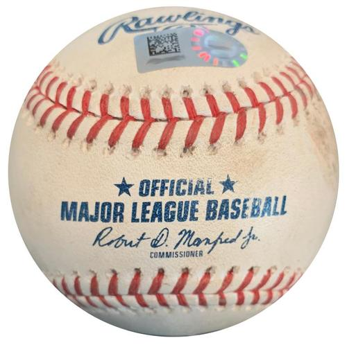 Photo of Game-Used Baseball from Pirates vs. Cubs on 8/19/18 - Richard Rodriguez Strikeout Pitch