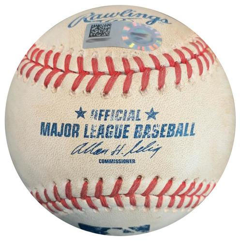 Photo of Game-Used Baseball from Pirates vs. Cubs on 9/14/14 - Neil Walker RBI Double