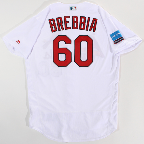Photo of 2018 Japan Series Game-Used Jersey - John Brebbia - Size 46