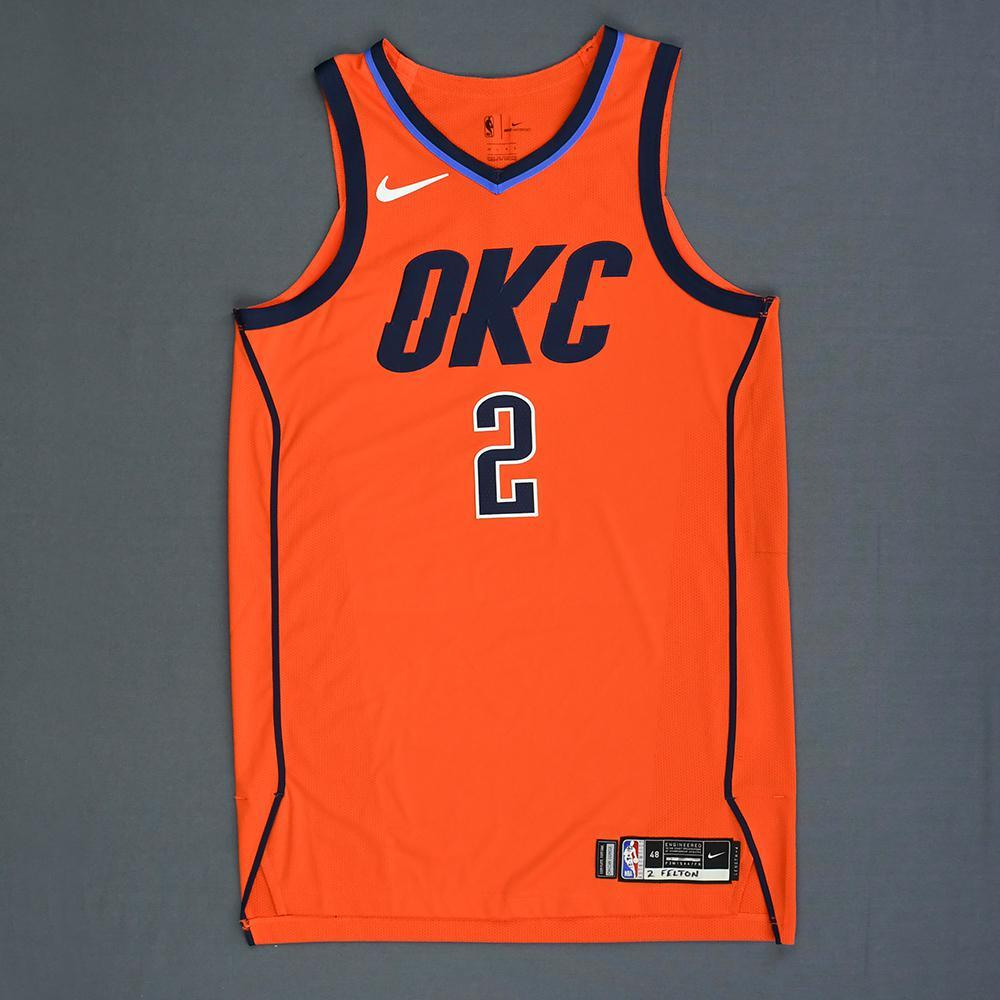 Raymond Felton - Oklahoma City Thunder - Game-Worn Earned Statement Edition Jersey - 2018-19 Season