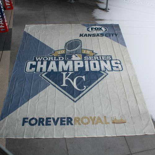 Photo of Extra Large Team-Issued Banner: 2015 World Series Champions