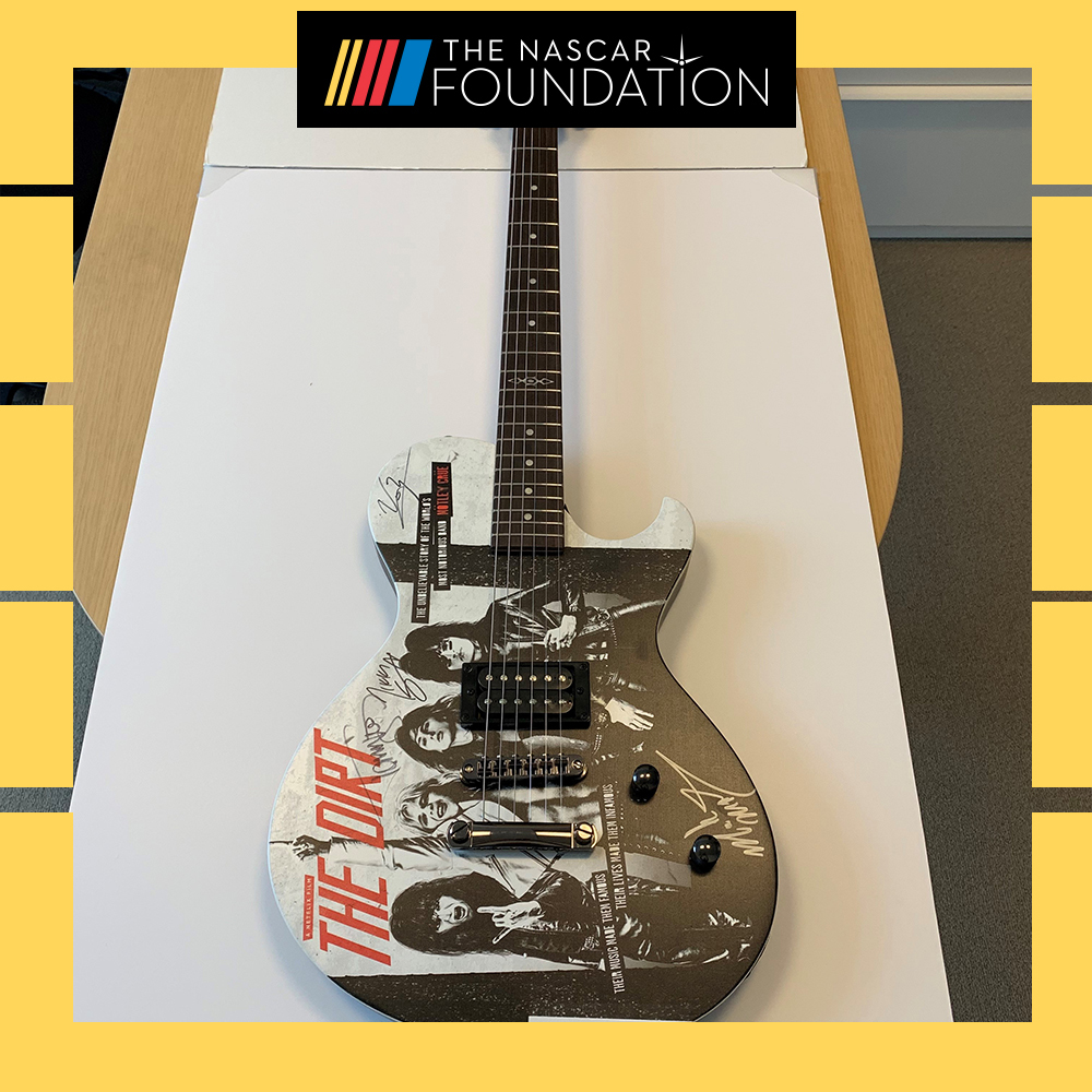 Mötley Crüe Autographed Guitar from Auto Club Speedway!