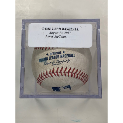 Photo of Game-Used Baseball: James McCann Reached First on Error