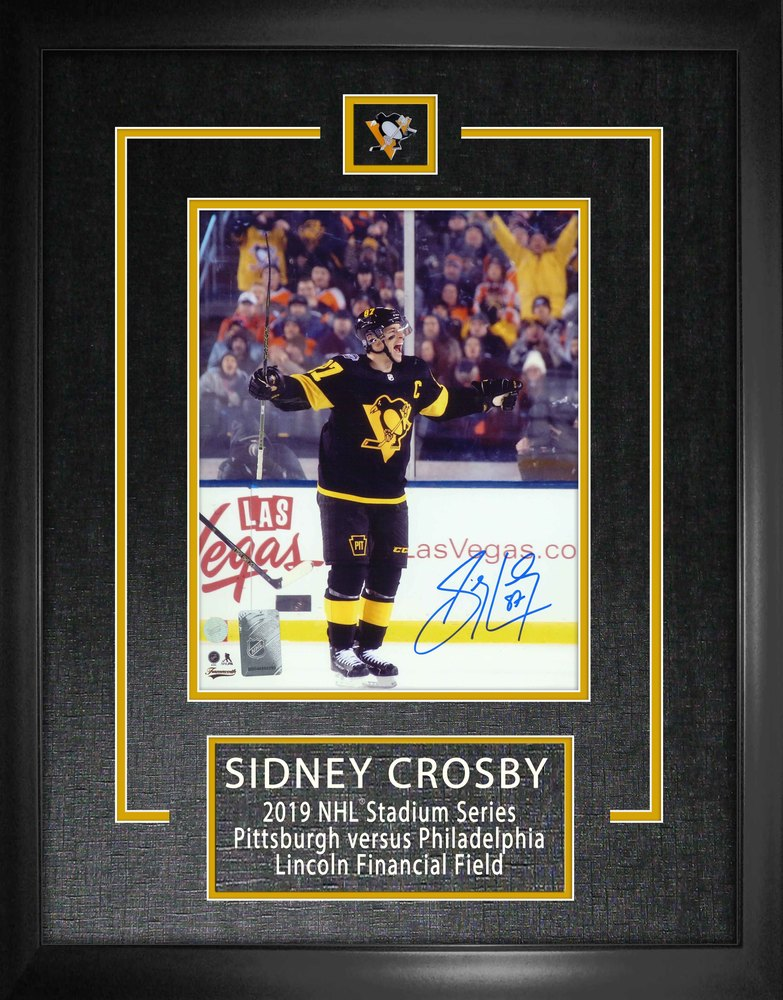 Crosby,S Signed 8x10 Etched Mat Penguins Black-V 2019 Stadium Series