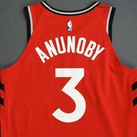 OG Anunoby - Toronto Raptors - 2018-19 Season - Canada Series - Game-Worn Red Icon Edition Jersey