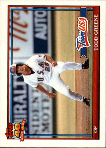 Photo of 1991 Topps Traded #50T Todd Greene USA RC
